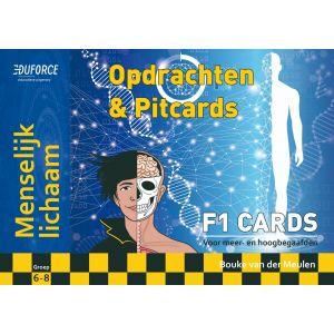 Menselijk lichaam - F1 Cards Opdrachten en Pitcards