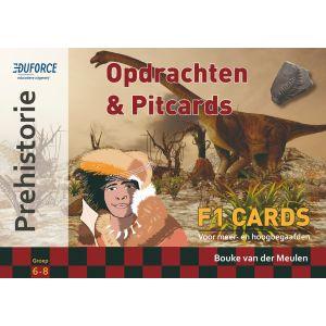 Prehistorie - F1 Cards Opdrachten en Pitcards