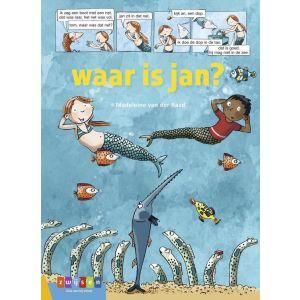 Waar is Jan? strips voor beginnende lezers