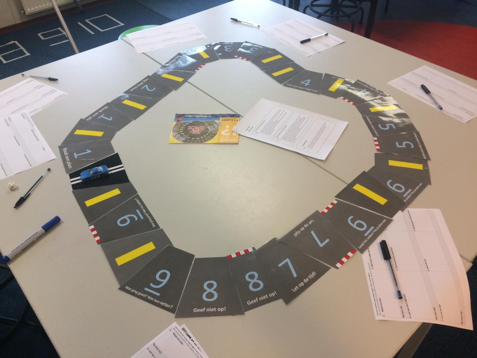 Aan het werk met het Leren leren racespel