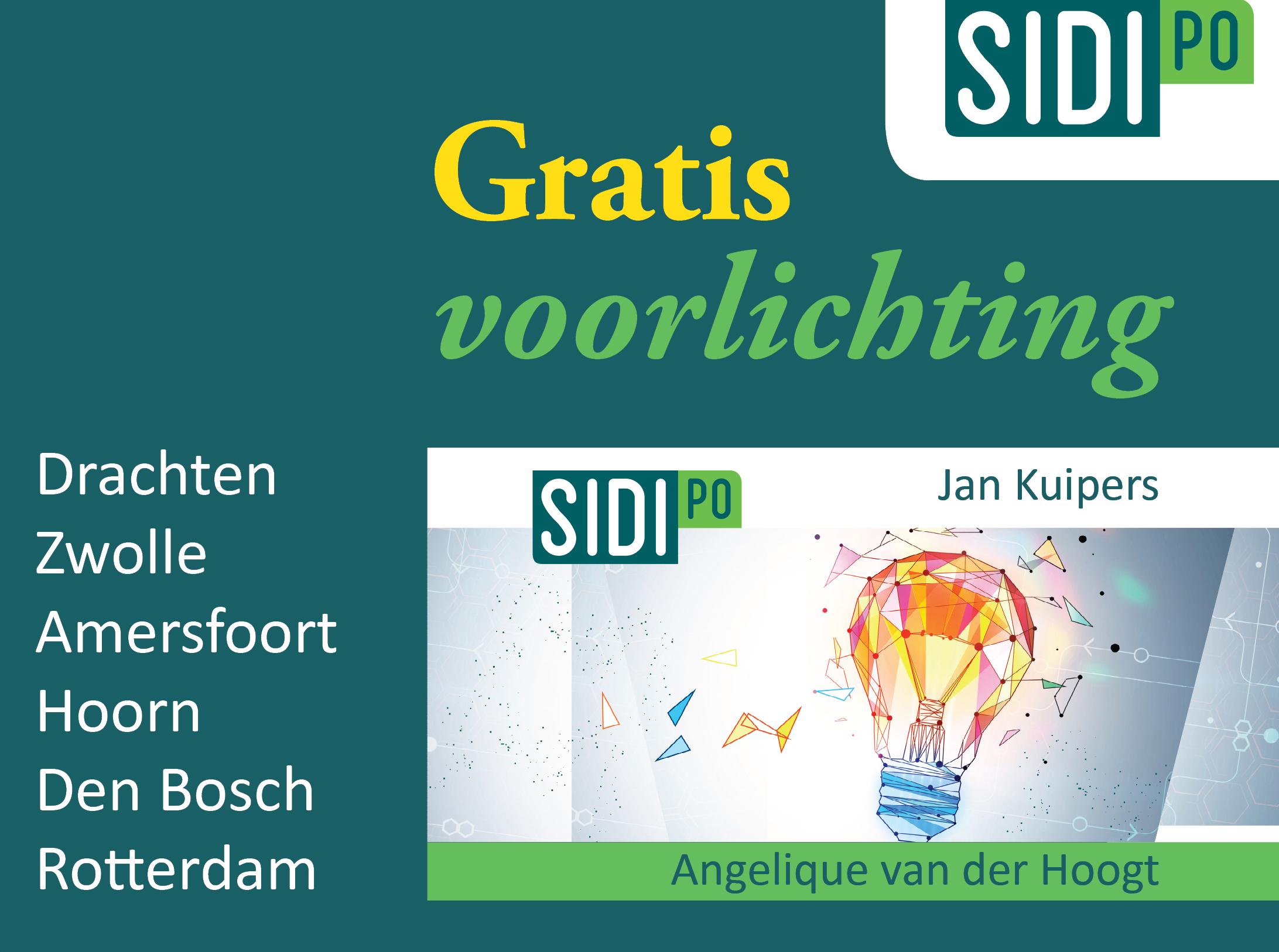 Gratis voorlichtingsbijeenkomsten Sidi PO